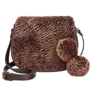 Patricia Nash Salerno Brown Sherpa Saddle Bag